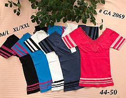Женская футболка утягивающая сзади с вышивкой