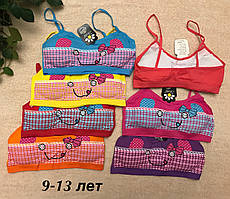 Топіки кольорові на підлітка, топ для дівчинки смайл бантик