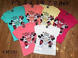 Детская Футболка на девочек 2 Mickey Minnie