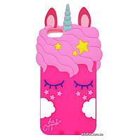 Чехол-накладка TPU 3D Little Unicorn для IPhone 6 / 6s Crimson