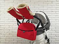 Комплект сумка и муфты для коляски Z&D Красный