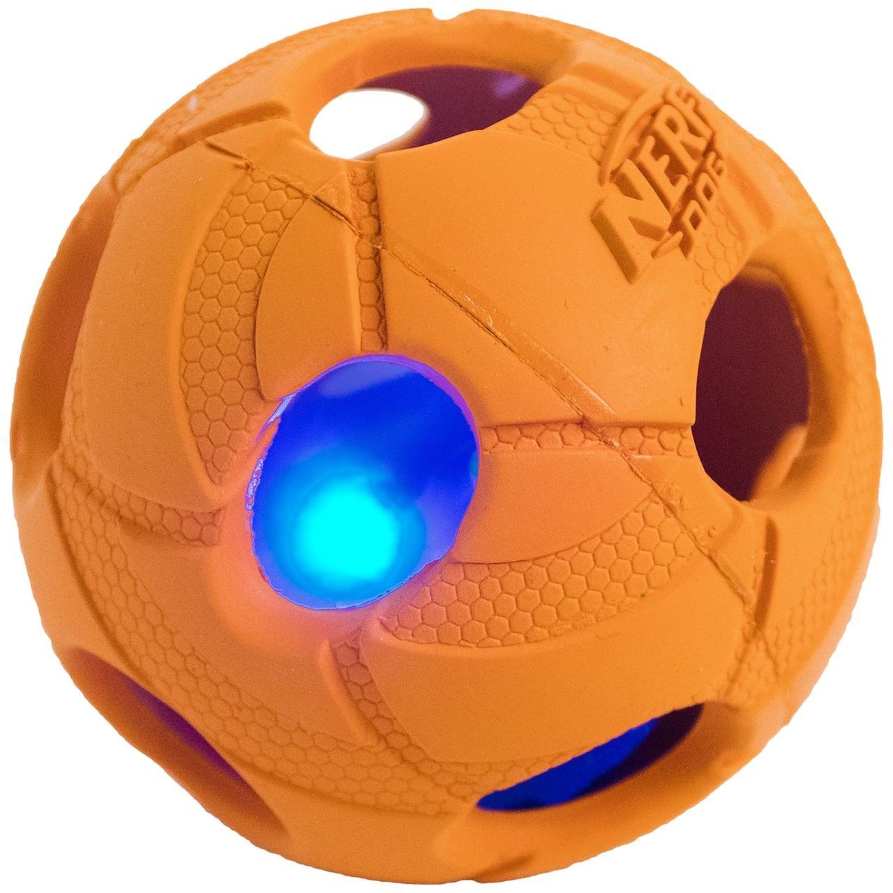 Игрушка для собак Hagen Nerf Dog LED Bash Ball, S, фото 1