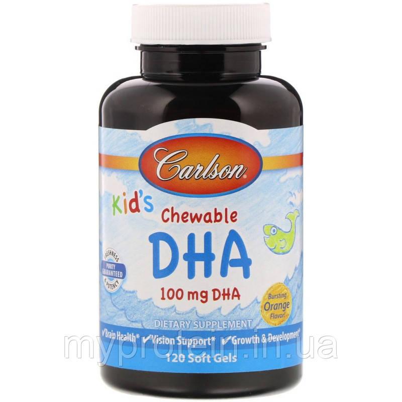 Carlson LabsАктивное долголетиеKid's Chewable DHA 100 mg120 soft gels