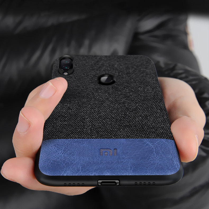 BakeeyLuxuryFabricSpliceSoftСиликоновый Край Противоударный Защитный Чехол Для Xiaomi Redmi Примечание 7 - 1TopShop
