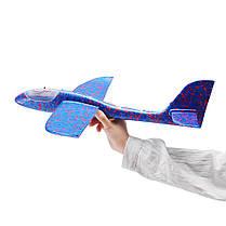4PCS 19 '' Ручной запуск метательного самолета Самолет-планер DIY Инерциальная игрушка для самолетов EPP с Светодиодный - 1TopShop, фото 3