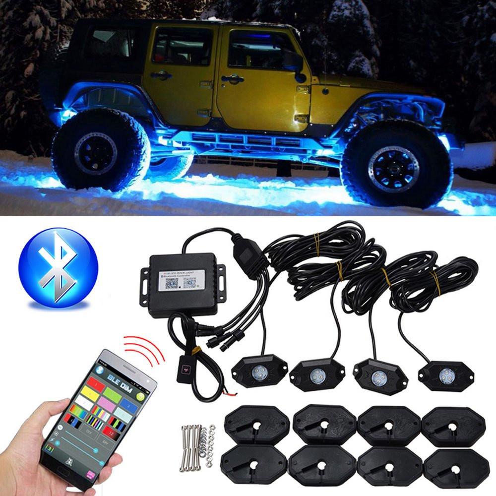Водонепроницаемы Wireless Bluetooth Музыка LED RGB Внедорожник Rock Light Accent Авто Внедорожник Запчасти для мотоцикла Rc - 1TopShop