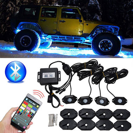 Водонепроницаемы Wireless Bluetooth Музыка LED RGB Внедорожник Rock Light Accent Авто Внедорожник Запчасти для мотоцикла Rc - 1TopShop, фото 2