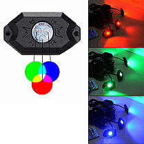 Водонепроницаемы Wireless Bluetooth Музыка LED RGB Внедорожник Rock Light Accent Авто Внедорожник Запчасти для мотоцикла Rc - 1TopShop, фото 3