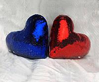 Печать на подушках-хамелеон в форме сердца