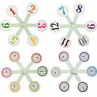 Учебный веер цифры и часы / Навчальне віяло цифри та години (Козлов), фото 1