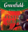 Пакетированный чай Greenfield Festive Grape 100 пакетов (трявяной с виноград и яблоко)