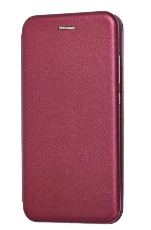 Чехол (книжка) премиум для Xiaomi  Mi 8 Lite бордо (марсала)
