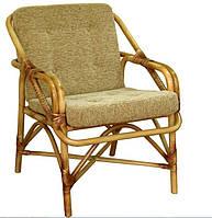 Кресло для отдыха №1 (из набора). Цвет возможно изменять. Мебель из ротанга