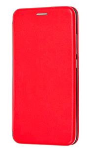 Чехол (книжка) премиум для Xiaomi Mi 8 Lite красная