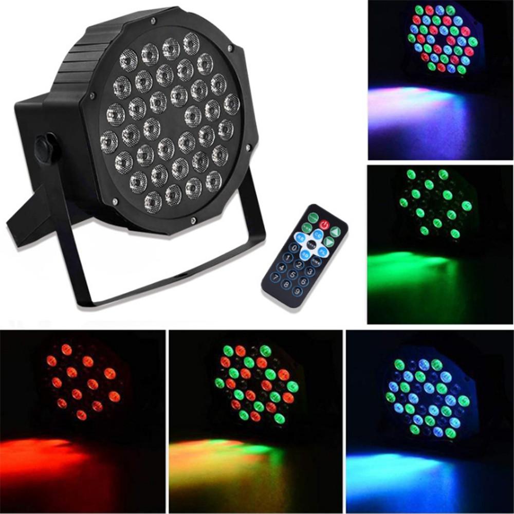 RGB Дистанционное Управление с голосовой активацией 36 LED Stage Light Party Дискотека KTV Пар Лампа AC90V-240V - 1TopShop