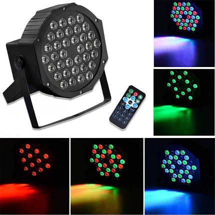 RGB Дистанционное Управление с голосовой активацией 36 LED Stage Light Party Дискотека KTV Пар Лампа AC90V-240V - 1TopShop, фото 2