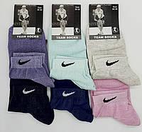"""Носки женские коротенькие спортивные """"Team Socks"""". Цветной микс."""