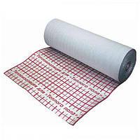 Рулонная теплоизоляция Теплоизол 5 мм (50 м) фольгированная с разметкой с утеплителем для теплого пола