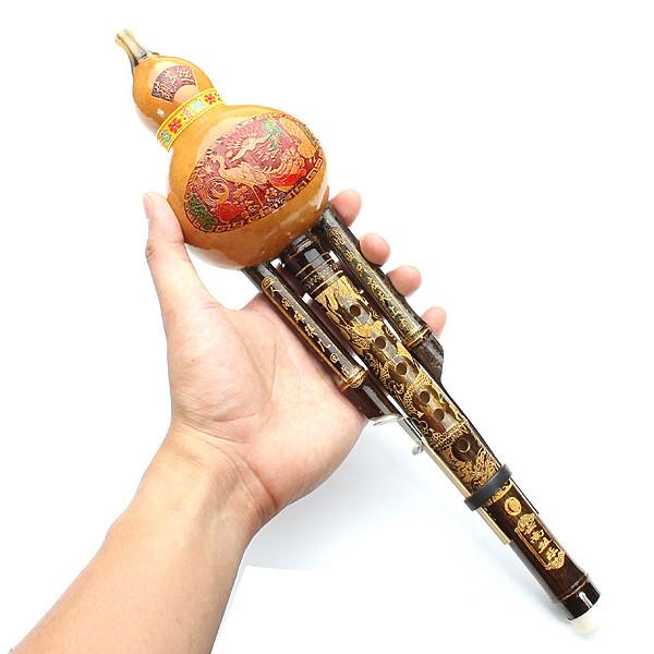 Натурального бамбука тыква cucurbit флейта c тон китайского меньшинства инструмент-1TopShop