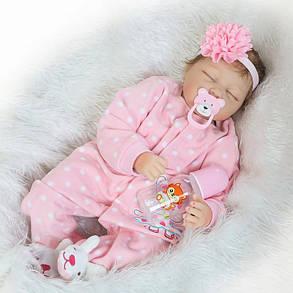 22''Handmade Lifelike Baby Girl Кукла Силиконовый Винил Reborn Newborn Куклаs Одежда - 1TopShop, фото 2
