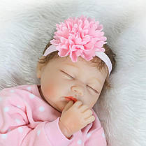 22''Handmade Lifelike Baby Girl Кукла Силиконовый Винил Reborn Newborn Куклаs Одежда - 1TopShop, фото 3