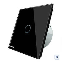 Livolo сенсорный диммер черный стеклянная панель переключателя ЕС стандарт вл-c701d-12 - 1TopShop