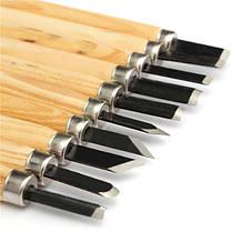 10шт резьба по дереву стамеска набор из высокоуглеродистой стали с деревянной ручкой - 1TopShop, фото 3