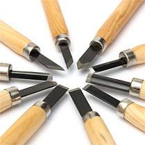 10шт резьба по дереву стамеска набор из высокоуглеродистой стали с деревянной ручкой - 1TopShop, фото 2