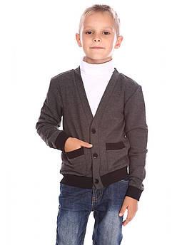 Школьная кофта для мальчика Размер 122 см Серый