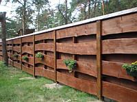 Забор из натурального дерева