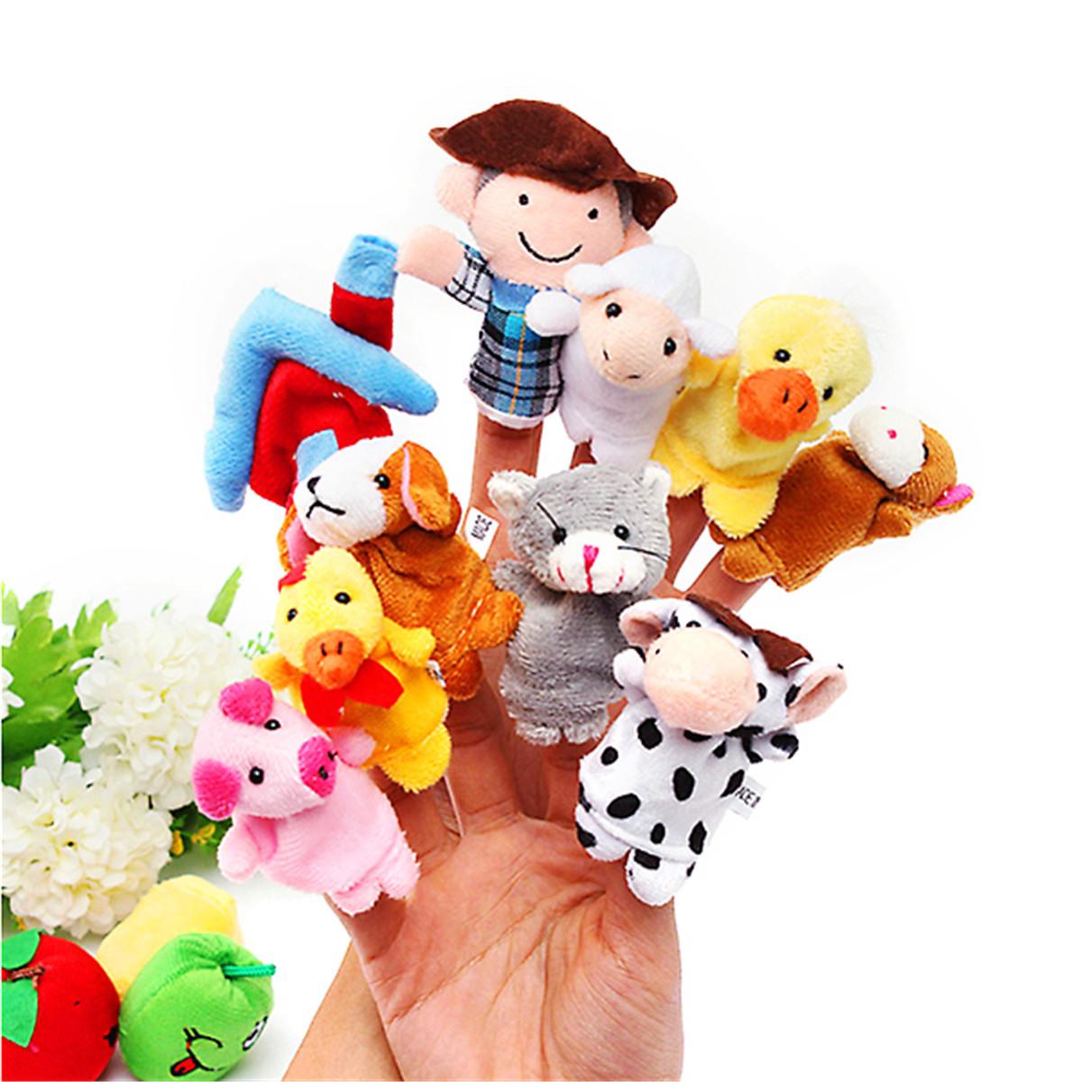 10 ПК Family Finger Puppets Ткань Кукла Детская обучающая игрушка для рук - 1TopShop