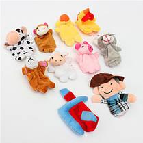10 ПК Family Finger Puppets Ткань Кукла Детская обучающая игрушка для рук - 1TopShop, фото 3