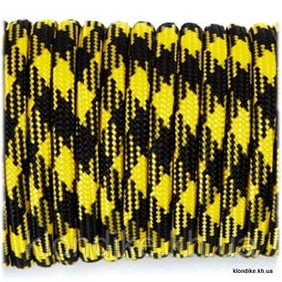 Паракорд, 4 мм, Цвет: Черно-желтый камуфляж