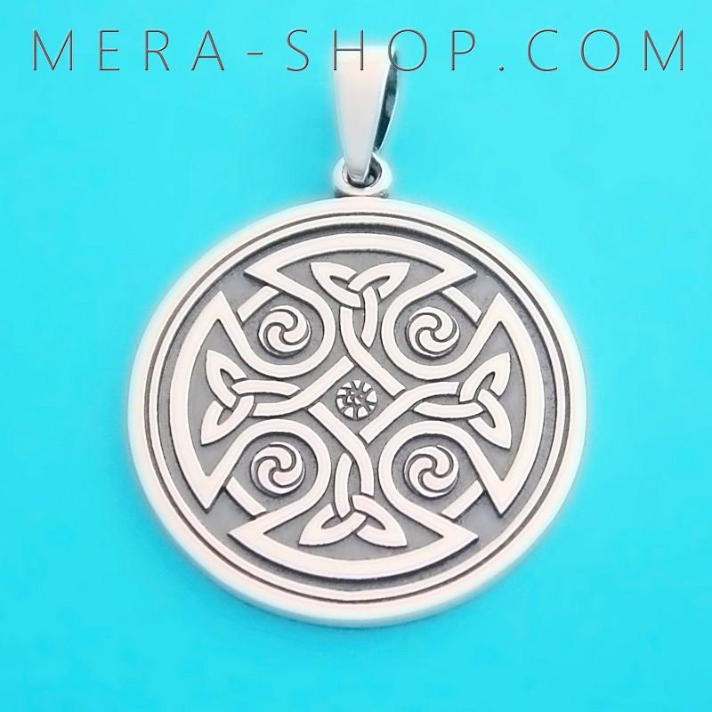 серебряный кельтский крест мужской амулет Mera магазин оберегов купить в харькове украина цена фото описание