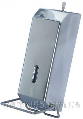 Дозатор рідкого мила ліктьовий з нержавіючої сталі 1,2 л.