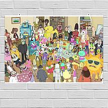 """Постер """"Паранойя"""". Рик и Морти, Rick and Morty. Размер 60x34см (A2). Глянцевая бумага, фото 3"""
