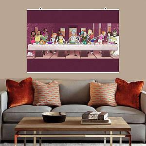 "Постер ""Тайная вечеря Рика и Морти"". Rick and Morty, Last Supper. Размер 60x40см (A2). Глянцевая бумага"