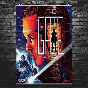 Постер Stranger Things 3, Очень Странные Дела 3, врата. Размер 60x43см (A2). Глянцевая бумага