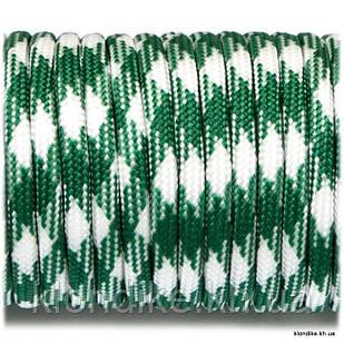 Паракорд, 4 мм, Цвет: Зелено-белый камуфляж