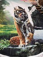 Пляжные круглые коврики Тигр, селфи коврик