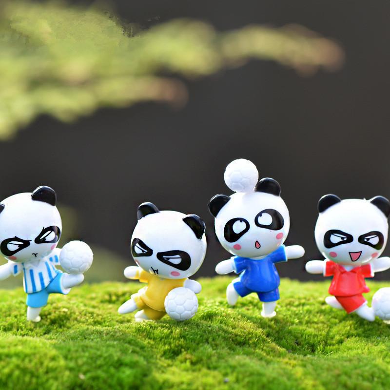 24PCS Panda Bear Кукла Миниатюрный DIY Микро Ландшафт Растение Дом Декор Аксессуары Игрушка - 1TopShop