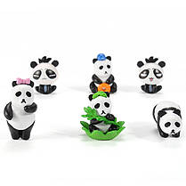 24PCS Panda Bear Кукла Миниатюрный DIY Микро Ландшафт Растение Дом Декор Аксессуары Игрушка - 1TopShop, фото 2