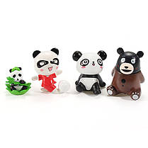 24PCS Panda Bear Кукла Миниатюрный DIY Микро Ландшафт Растение Дом Декор Аксессуары Игрушка - 1TopShop, фото 3