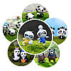 24PCS Panda Bear Кукла Миниатюрный DIY Микро Ландшафт Растение Дом Декор Аксессуары Игрушка - 1TopShop, фото 5