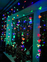 Новогодняя гирлянда Штора «Сказочные цветы», фото 1
