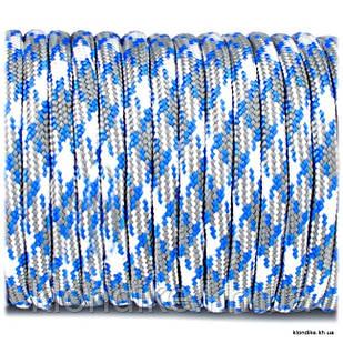 Паракорд, 4 мм, Цвет: Белый, серый, голубой