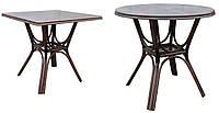 """Стол """"Триумф"""" квадратный или круглый. Цвет и размер можно изменять. Мебель из ротанга."""