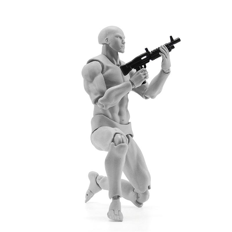 Figma Archetype Action Рисунок 2.0 Тело Мужское Серый Цвет Модель Кукла Для украшения - 1TopShop
