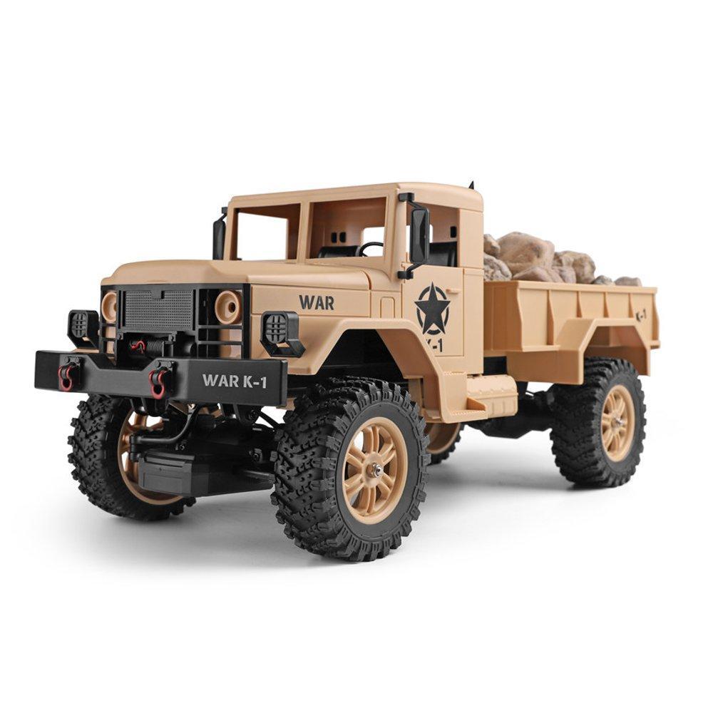 Wltoys1243011/122.4G4WD45 см 390 Bruied Rc Авто 1.2kg Грузовая внедорожная Военный Грузовик RTR Toy - 1TopShop