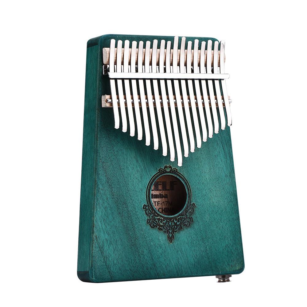 17 Ключи Красное дерево Вуд Калимба Африканское пальто Пианино Мини Клавиатура Перкуссионный инструмент - 1TopShop
